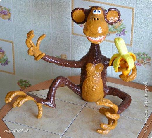 Новогодняя обезьянка своими руками фото