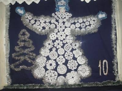 Как сделать снегурочку из снежинок